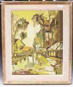 PARKER LEE,(B.1924) OIL ON CANVAS