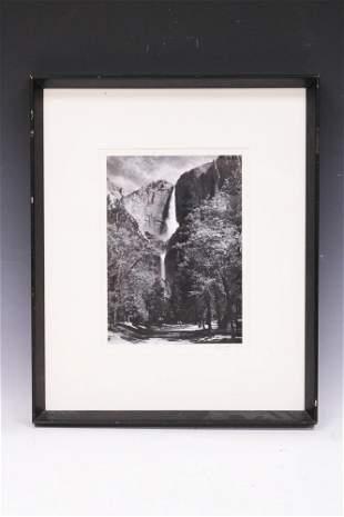 ANSEL ADAMS (1902-1984) VINTAGE PHOTO & SIGNED