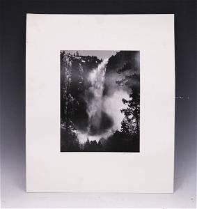 ANSEL ADAMS VINTAGE PHOTO OF BRIDAL VEIL FALLS
