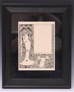 AUBREY BEARDSLEY (1872-1898) FRAMED LITHOGRAPH
