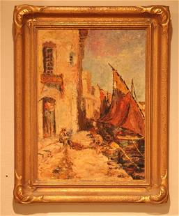 EARLY 20TH C. OIL ON BOARD, ARTIST SIGNED