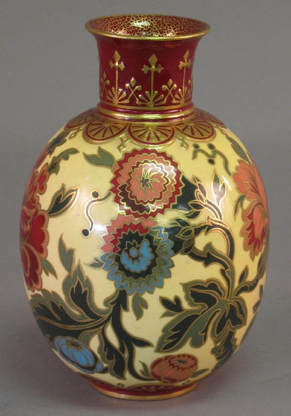 6: ROYAL WORCESTER HAND PAINTED VASE with Shreve & Co.