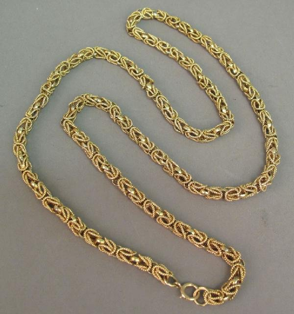 10: 14KT GOLD CHAIN weight: 76 grams
