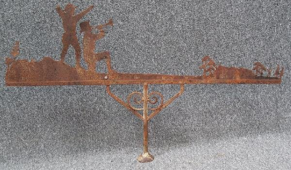 """16: EARLY 20TH CENTURY WEATHER VANE, length 50"""" some lo"""
