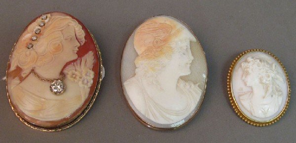 22: LOT OF (3) VICTORIAN CAMEOS