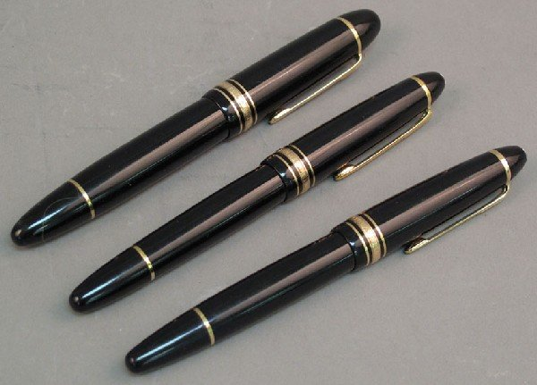 1: LOT OF (3) MONT BLANC FOUNTAIN PENS