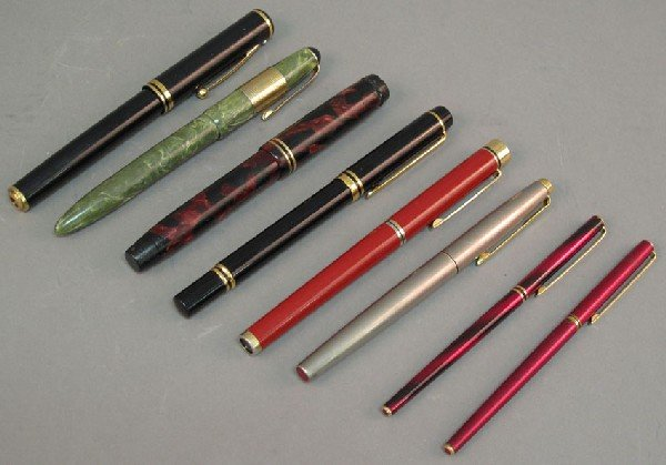 2: ASSORTMENT OF (10) FOUNTAIN PENS including Parker St