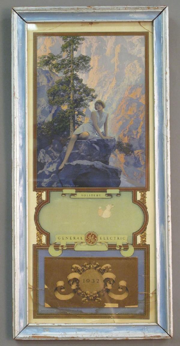 6: MAXFIELD PARRISH CALENDAR POSTER circa 1932 overall: