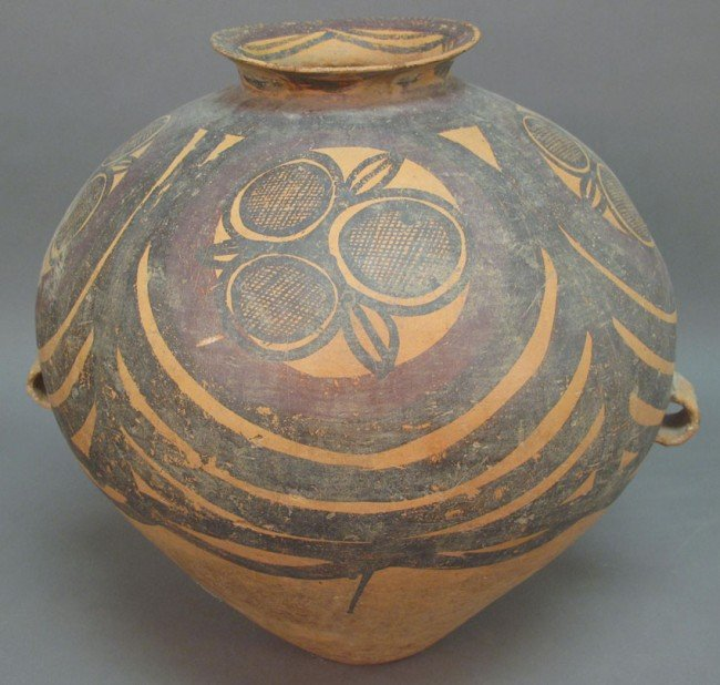 15: CHINESE PAINTED VESSEL 1st Millennium BC note: repa