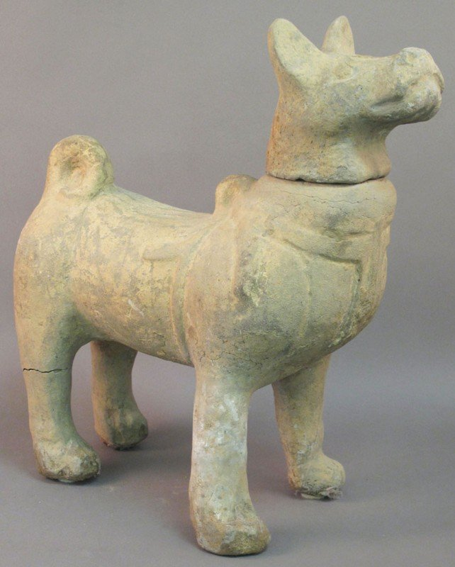 17: TANG DYNASTY DOG note: repair to leg detached head