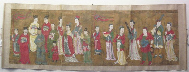 179: EARLY CHINESE SCROLL MING DYNASTY (1640)  length:
