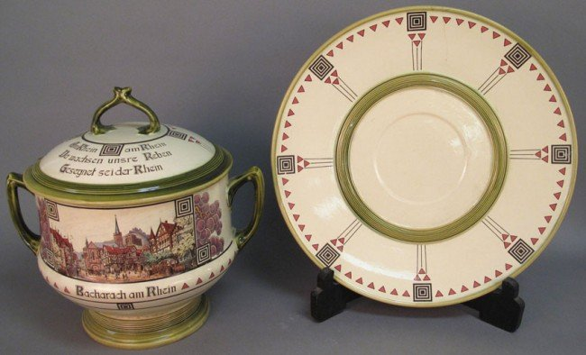 505: METTLACH TUREEN with underplate diameter of plate: