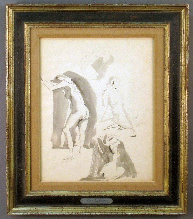 508: REGINALD MARCH (1898-1954) Gouche/Watercolor sight