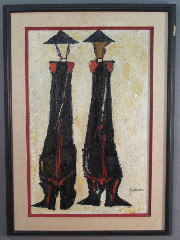 509: GIUSEPPE GAMBINO, 1928 O/C of two figures