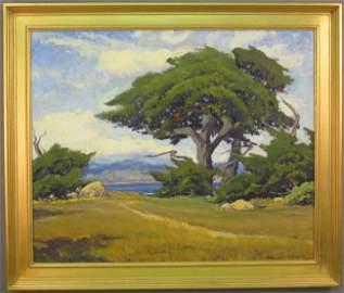 """543: ARTHUR HILL GILBERT, O/C (1894-1970) sight: 25""""x 3"""