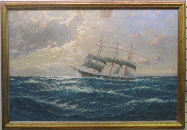 """521: FRANCIS GLUSING O/C Hamburg, 1939 """"Ships"""" 31""""x47"""""""