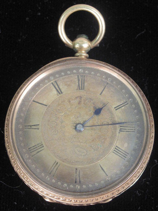 522: EARLY 19TH CENTURY 18KT POCKET WATCH, Russells Liv