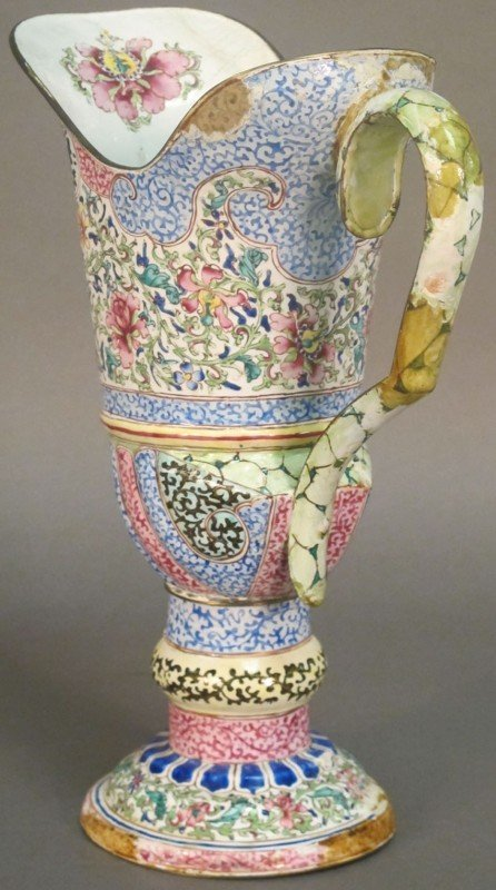 29: CHING DYNASTY 18TH CENTURY ENAMELED PITCHER note: e - 2