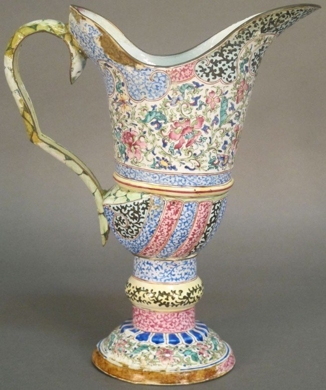 29: CHING DYNASTY 18TH CENTURY ENAMELED PITCHER note: e - 3