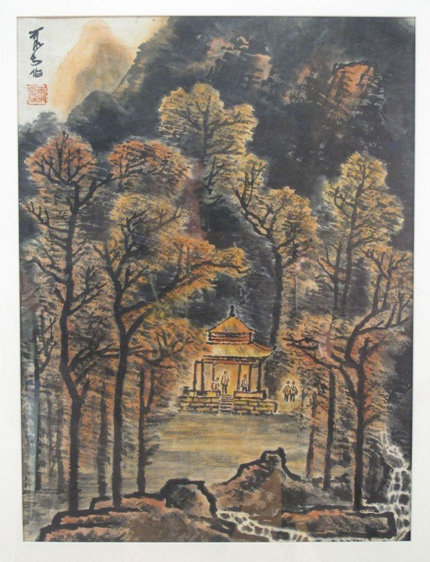 75: LI KERAN (1909-1987) CHINESE FRAMED PAINTING