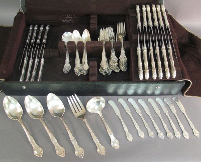 1003: GORHAM STERLING FLATWARE  PIECES: 93  WEIGHT: 99