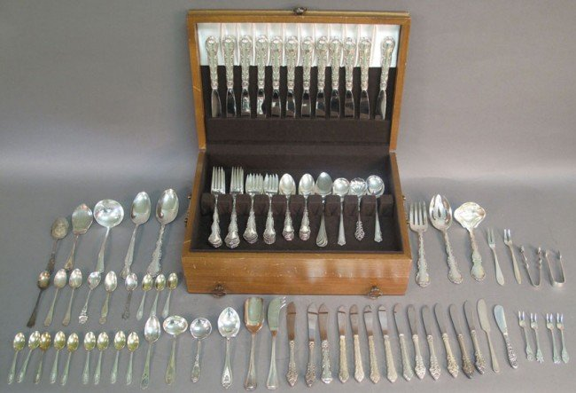 1006: GORHAM STERLING FLATWARE  PIECES: 57  WEIGHT: 60
