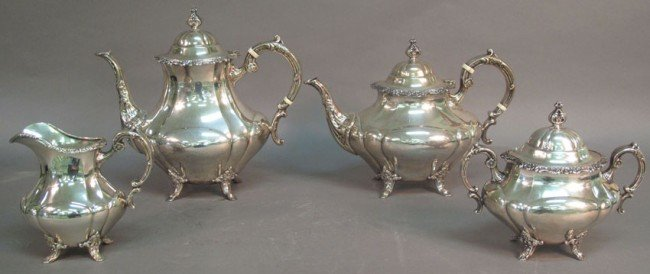 1007: REED & BARTON (4) PIECE  STERLING TEA SERVICE  #6