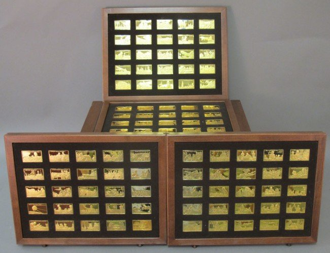 1010: SET OF (100) STERLING SILVER  FRANKLIN MINT PRESE