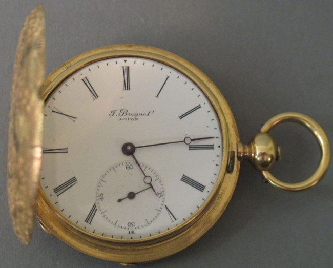 1023: J.BREGUEL 18KT WATCH  mid-19th century  note: mis