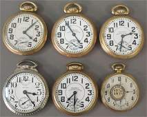 1228: LOT OF (6) WALTHAM POCKET WATCHES