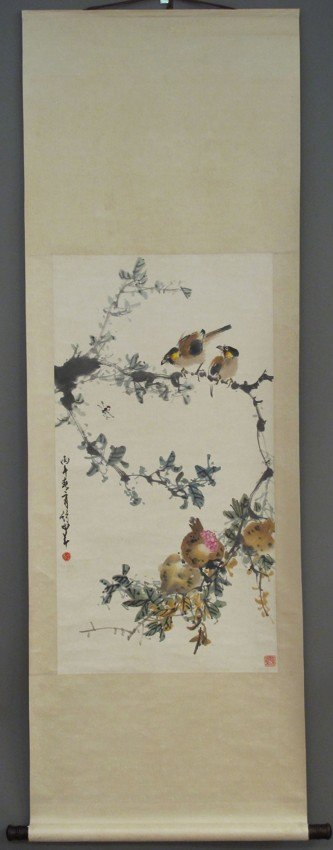 """63: ZHAO SHAOANG PAINTING length: 68 1/2""""X 23"""" sight: 3"""