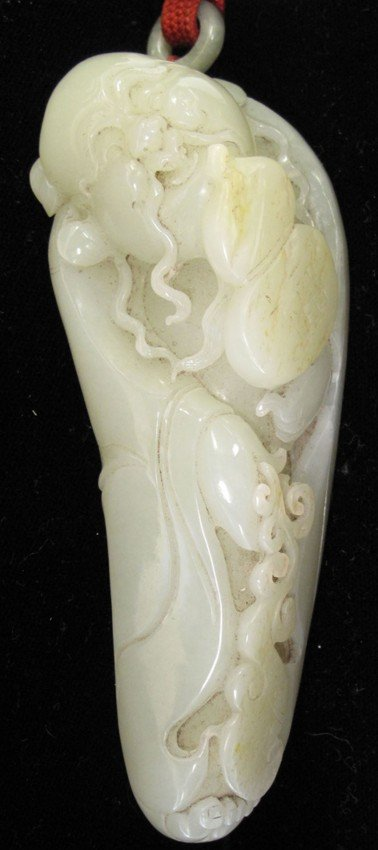 """72D: CHINESE CARVED JADE OF BUDDHA length: 5"""""""
