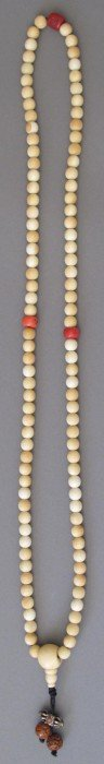 QING DYNASTY IVORY BEADS Length: 31""