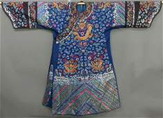 150: CHINESE EMBROIDERED ROBE early 20th century