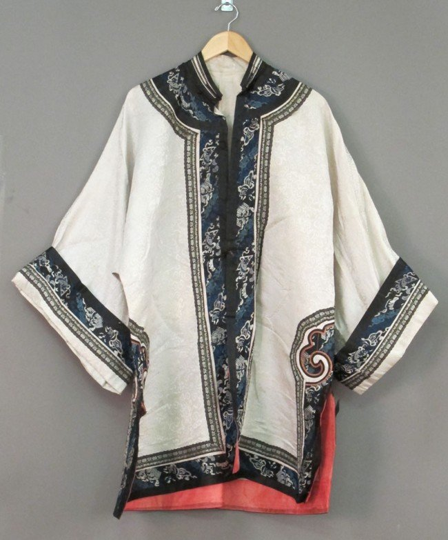 156: LOT OF (3) CHINESE EARLY 20TH CENTURY SILK ROBES