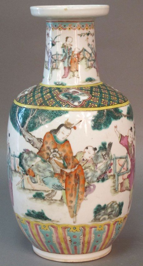 160: CHINESE 19TH CENTURY VASE height: 13""