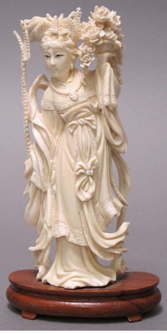 3: CHINESE CARVED IVORY OF FIGURE height: 6""