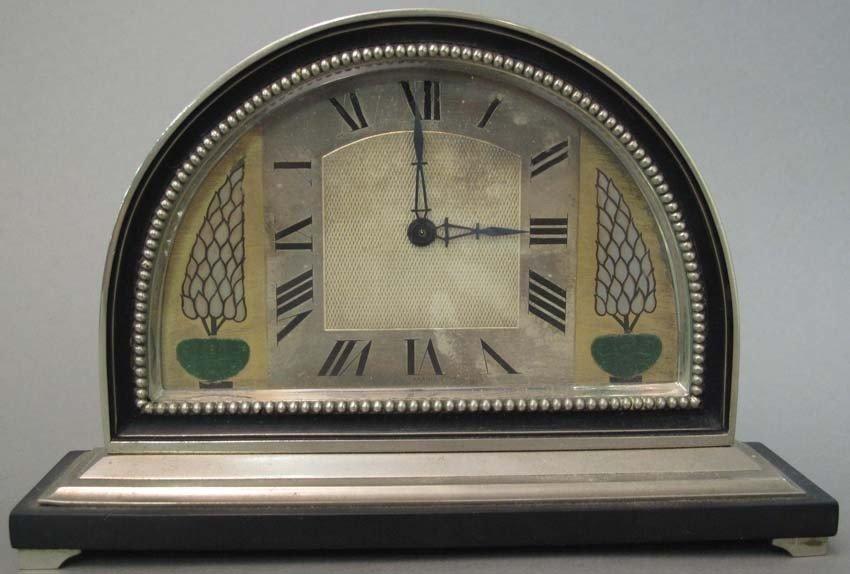 """1000: ART NOUVEAU FRENCH DESK CLOCK length: 8 1/2"""""""