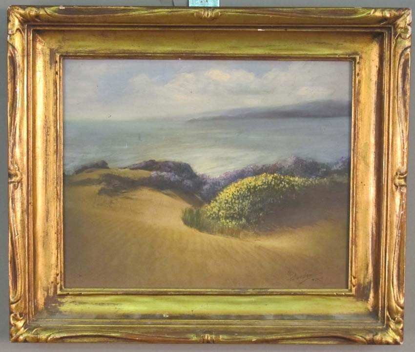 "1004: WILLARD WORDEN (1868-1946) O/B, sight: 8""x 9 1/2"""