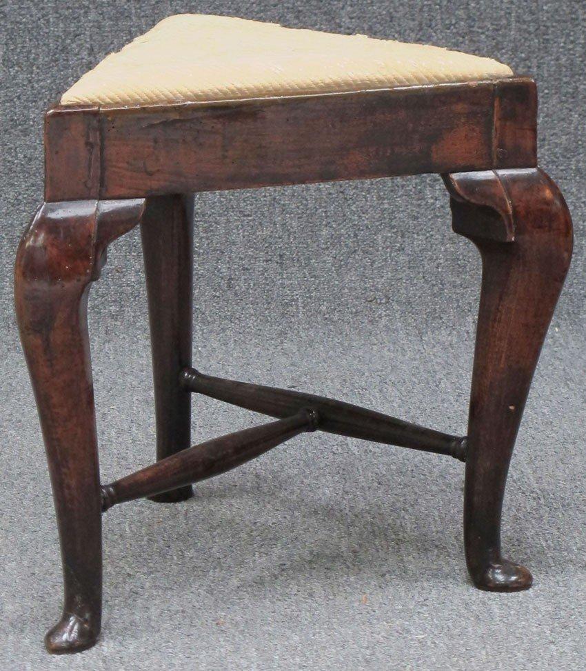 1015: QUEEN ANNE FOOT STOOL circa 18th century height: