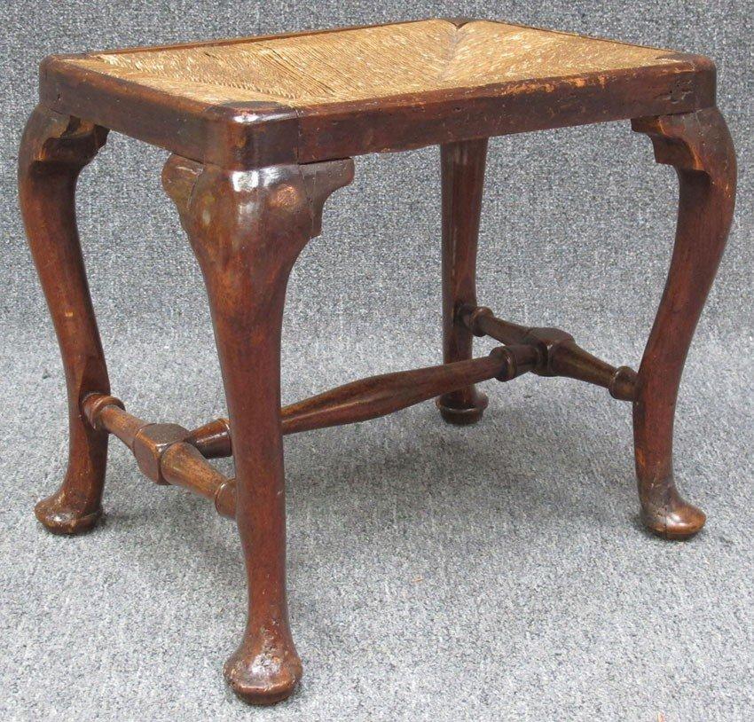 1016: QUEEN ANNE FOOT STOOL circa 18th century height: