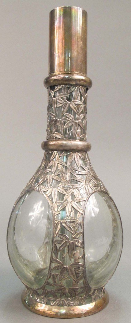 "4: STERLING SILVER FOUR PART DECANTER height: 12 1/2"" e"