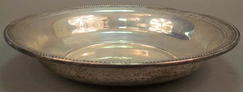"11: WALLACE STERLING SILVER BOWL diameter: 9 5/8"" weigh"