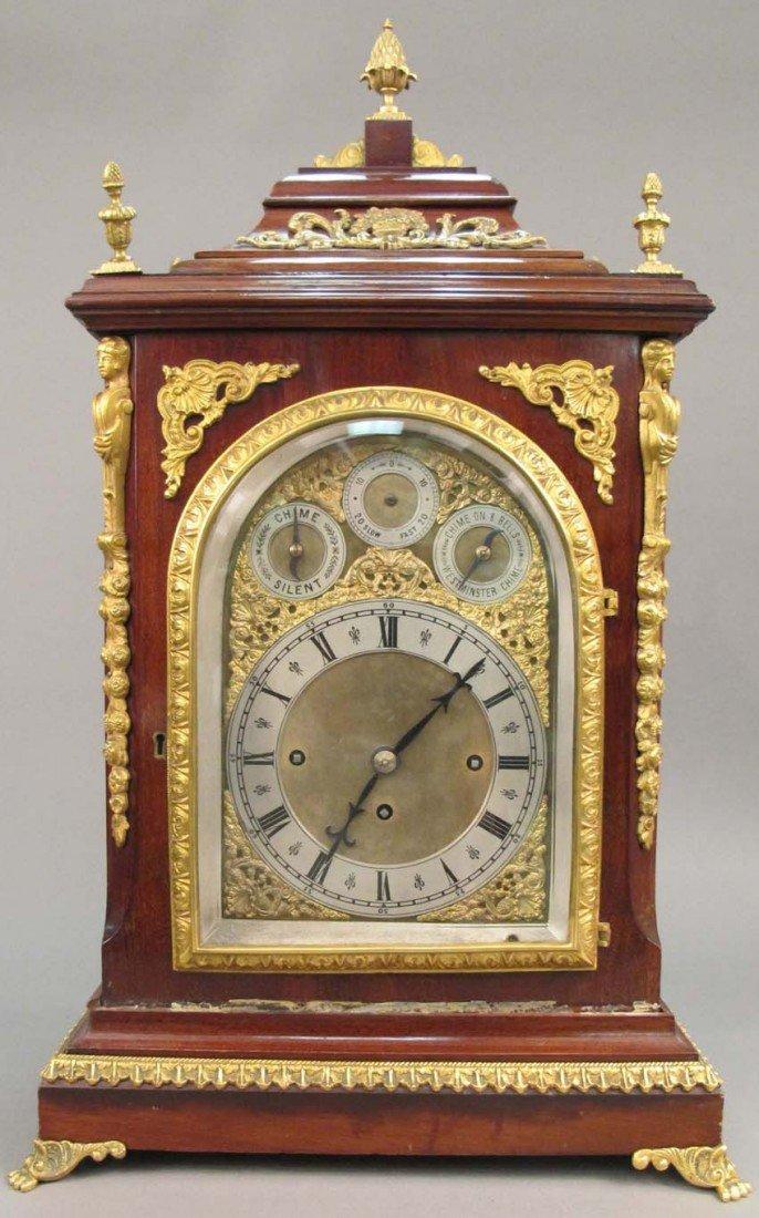 23: ENGLISH MAHOGANY BRACKET CLOCK circa 19th century W