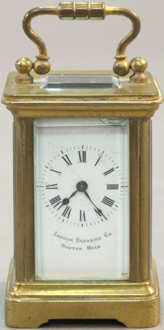 24: MID 19TH CENTURY MINIATURE CARRIAGE CLOCK maker: Lo