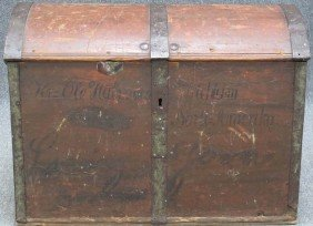 EARLY 19TH CENTURY DOME TOP IMMIGRANT'S CHEST With
