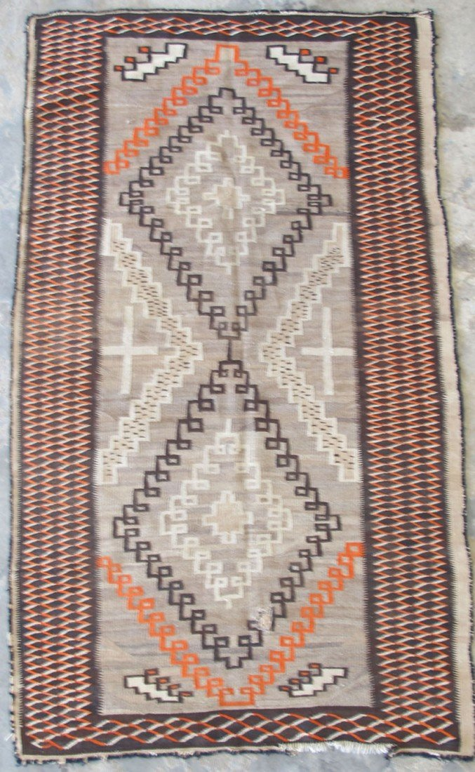 100: NAVAHO INDIAN BLANKET early 20th century overall: