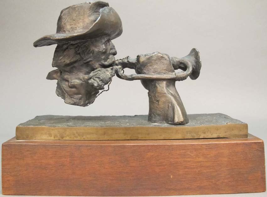 """104: FRITZ WHITE BRONZE """"A Call to Arms"""" length of bron"""