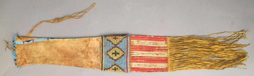 107: NATIVE AMERICAN SIOUX BEADED PIPE BAG circa 1870s