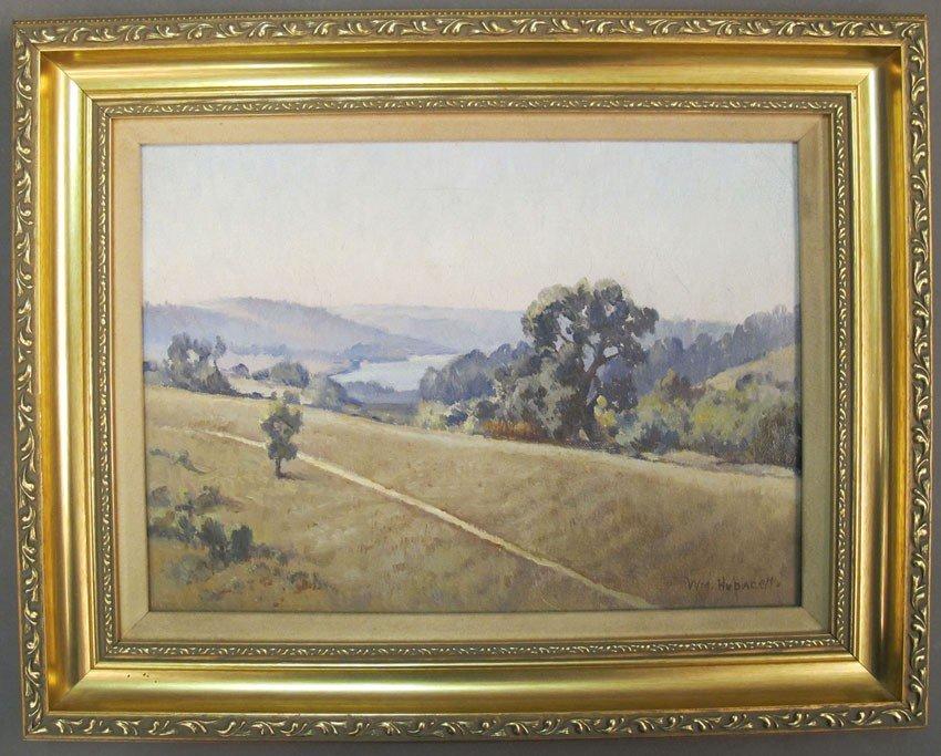 113: WILLIAM HUBACEK (1871-1958) Landscape of Crystal S